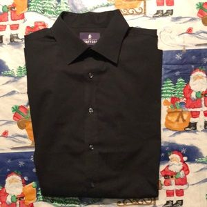 Black long sleeved dress shirt